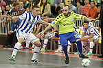 Pescara's Maximiliano Rescia (l) and Inter FS's Ricardinho during UEFA Futsal Cup 2015/2016 Semifinal match. April 22,2016. (ALTERPHOTOS/Acero)