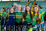 Ruth O'Connor, Aisling Hennessy, Amy Corridan and Lily Gaynor, Kilmoyley supporters, pictured at the Senior Hurling final in Austin Stack Park, Tralee, on Sunday last.