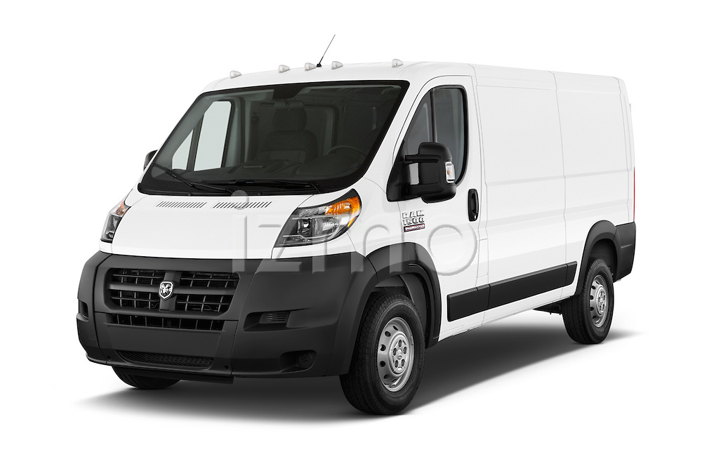 2017 Ram Promaster 1500 136 WB Low Roof 3 Door Cargo Van Angular Front stock photos of front three quarter view