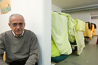 Switzerland. Canton Ticino. Biasca. Antonio Simona, director of the Chiasso asylum registration centre, seats in Al Vallone bunker belonging to the Civil Protection (Centro Sanitario Protette. Protezione Civile 3 Valli).  It is used as a dependency (Notschlafstelle) of the main asylum registration centre of Chiasso. The bunker hosts mostly families and minors, and it is a centre for immigrants under the authority of the Federal Office for Migration. 27.12.12 © 2012 Didier Ruef