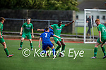 Kerry's Junior Ankomah in a tussle with Waterford's Charlie Bionions and Liam Kervic in the EA Sports U19 League of Ireland