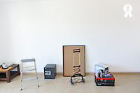 Objects in empty room during a moving house (Licence this image exclusively with Getty: http://www.gettyimages.com/detail/103933314 )