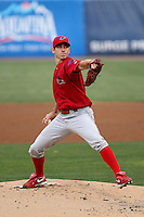 April 19, 2010 Pitcher Austin Hyatt of the Clearwater Threshers, Florida State League Single-A affiliate of the Philadelphia Phillies, delivers a pitch during a game atGeorge M. Steinbrenner Field in Tampa, FL. Photo by: Mark LoMoglio/Four Seam Images