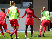 Standard players (Fon Welma (2) of Standard in the middle)  pictured during the warm up before a female soccer game between Standard Femina de Liege and Oud Heverlee Leuven on the 10th and last matchday in play off 1 of the 2020 - 2021 season of Belgian Scooore Womens Super League , saturday 29 th of May 2021  in Angleur , Belgium . PHOTO SPORTPIX.BE | SPP | SEVIL OKTEM