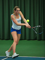 Rotterdam, The Netherlands, 15.03.2014. NOJK 14 and 18 years ,National Indoor Juniors Championships of 2014,  Marleen Habes (NED)<br /> Photo:Tennisimages/Henk Koster