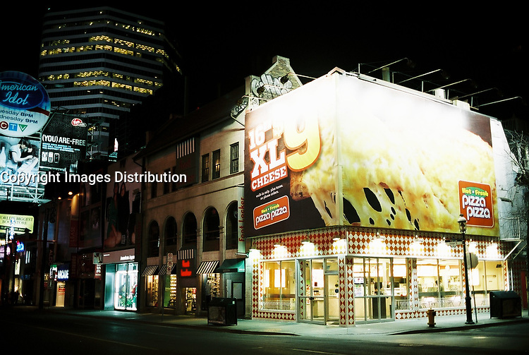 Toronto (ON) CANADA, April 21, 2007<br /> <br /> Yonge Street at Night<br /> <br />     photo by Pierre Roussel - Images Distribution