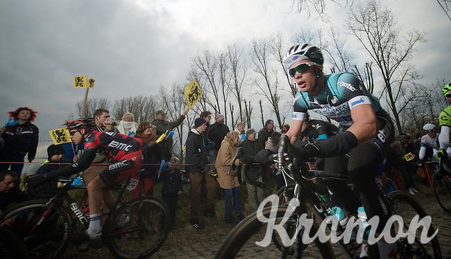 Ronde van Vlaanderen 2013..Iljo Keisse (BEL) up the Molenberg