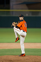 AZL Giants relief pitcher John Russell (53) delivers a pitch to the plate against the AZL Rangers on September 4, 2017 at Scottsdale Stadium in Scottsdale, Arizona. AZL Giants defeated the AZL Rangers 6-5 to advance to the Arizona League Championship Series. (Zachary Lucy/Four Seam Images)