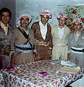 Iraq 1971. At the 8th congress of KDP in Nawpurdan, from left to right, Hassan Shatavi, Mustafa Barzani, Nezamedin Kaya from Turkey, Mohammed Saleh Goma and Idris Barzani<br /> <br /> Irak 1970. Au 8eme congres du PDK a Nawpurdan , de gauche a droite, Hassan Shatavi, Mustafa Barzani, Nezamedin Kaya du Kurdistan de Turquie,Mohammed Saleh Goma et Idris Barzani, fils de Mustafa Barzani