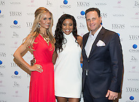 LAS VEGAS, NV - June 7 :Andrea Bennett, Editor in Chief, Gabrielle Union and Josef Vann, Publisher pictured as  Vegas Magazine Celebrates 11th Anniversary with Gabrielle Union and CÎROC at Drai's Beach Club & Nightclub at The Cromwell in Las Vegas, NV on June 7, 2014. © Kabik/ Starlitepics ***HOUSE COVERAGE***
