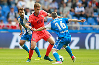 Deportivo de la Coruna's Bruno Gama (l) and Luisinho Correia (r) and Real Sociedad's Adnan Januzaj during La Liga match. September 10,2017.  *** Local Caption *** © pixathlon<br /> Contact: +49-40-22 63 02 60 , info@pixathlon.de