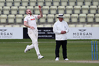 Paul Walter in bowling action for Essex during Worcestershire CCC vs Essex CCC, LV Insurance County Championship Group 1 Cricket at New Road on 2nd May 2021