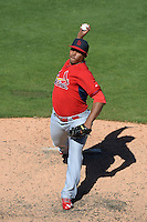 St. Louis Cardinals pitcher Jorge Rondon (68) during a spring training game against the Detroit Tigers on March 3, 2014 at Joker Marchant Stadium in Lakeland, Florida.  Detroit defeated St. Louis 8-5.  (Mike Janes/Four Seam Images)