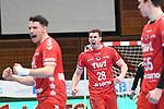 Ludwigshafens Hendrik Wagner (Nr.28) jubelt beim Spiel in der Handball Bundesliga, Die Eulen Ludwigshafen - HSC 2000 Coburg.<br /> <br /> Foto © PIX-Sportfotos *** Foto ist honorarpflichtig! *** Auf Anfrage in hoeherer Qualitaet/Aufloesung. Belegexemplar erbeten. Veroeffentlichung ausschliesslich fuer journalistisch-publizistische Zwecke. For editorial use only.