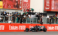1st November 2020, Imola, Italy; FIA Formula 1 Grand Prix Emilia Romagna, Race Day;  44 Lewis Hamilton GBR, Mercedes-AMG Petronas Formula One Team