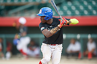 Robert Puason (3) during the Dominican Prospect League Elite Underclass International Series, powered by Baseball Factory, on August 1, 2017 at Silver Cross Field in Joliet, Illinois.  (Mike Janes/Four Seam Images)