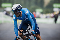 Alejandro Valverde (ESP/Movistar)<br /> <br /> Stage 5 (ITT): Time Trial from Changé to Laval Espace Mayenne (27.2km)<br /> 108th Tour de France 2021 (2.UWT)<br /> <br /> ©kramon
