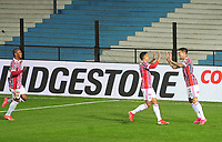20th July 2021; Buenos Aires, Argentina;  Emiliano Rigoni of São Paulo, celebrates his second goal during the match between Racing and São Paulo, for the Libertadores 2021 Round of 16, at Estádio Presidente Perón