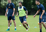 St Johnstone Training…04.07.17<br />Richie Foster pictured during training this morning before flying out to Lithunania for Thursday nights Europa League second leg qualifyer ahainst FK Trakai.<br />Picture by Graeme Hart.<br />Copyright Perthshire Picture Agency<br />Tel: 01738 623350  Mobile: 07990 594431