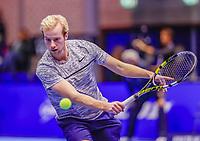 Rotterdam, Netherlands, December 15, 2017, Topsportcentrum, Ned. Loterij NK Tennis, Doubles: Botic van de Zandschulp (NED)<br /> Photo: Tennisimages/Henk Koster