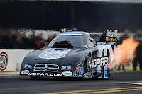 Nov. 8, 2012; Pomona, CA, USA: NHRA funny car driver Matt Hagan during qualifying for the Auto Club Finals at at Auto Club Raceway at Pomona. Mandatory Credit: Mark J. Rebilas-