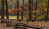Fine Art Landscape Photograph of Mount Kennesaw, National Battlefield Park, in Atlanta, Georgia. <br /> This lovely fall scene with deer feeding in the open meadows was the site of the battle of Kennesaw Mountain during the civil war in 1864. The Union forces of General William Tecumseh Sherman attacked the Confederate Army which was commanded by General Joseph E. Johnston.