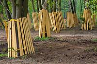 Baumschutz: EUROPA, DEUTSCHLAND, HAMBURG, (EUROPE, GERMANY), 28.04.2011: Baumbaumschutz