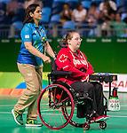 Alison Levine, Rio 2016 - Boccia.<br /> The Canadian BC4 team takes on Thailand in mixed pairs preliminaries // L'équipe canadienne BC4 affronte la Thaïlande dans les préliminaires mixtes. 10/09/2016.