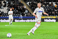 Leeds United's defender Luke Ayling (2) during the Sky Bet Championship match between Hull City and Leeds United at the KC Stadium, Kingston upon Hull, England on 2 October 2018. Photo by Stephen Buckley/PRiME Media Images.