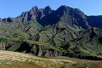 Berge bei Cha de Morte, Santo Antao, Kapverden, Afrika