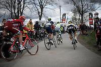 turning over the top of the Paterberg<br /> <br /> 71st Dwars door Vlaanderen (1.HC)