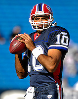 21 October 2007: Buffalo Bills backup quarterback Gibran Hamdan warms up prior to a game between the Bills and the visiting Baltimore Ravens at Ralph Wilson Stadium in Orchard Park, NY. The Bills defeated the Ravens 19-14 in front of 70,727 fans marking their second win of the 2007 season...Mandatory Photo Credit: Ed Wolfstein Photo