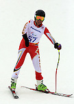 14/03/2014. Canadian Kirk Schornstein competes in the men's super combined standing event at the 2014 Sochi Paralympic Winter Games in Sochi.(Photo: Scott Grant/Canadian Paralympic Committee)