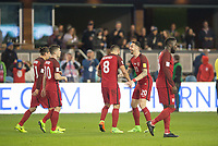 San Jose, Ca - Friday March 24, 2017: Cleint Dempsey Geoff Cameron during the USA Men's National Team defeat of Honduras 6-0 during their 2018 FIFA World Cup Qualifying Hexagonal match at Avaya Stadium.
