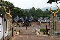 RWANDA, Butare, ethonological museum, showing the history of the Tutsi ethnic group and the Tutsi kingdom / RUANDA, Butare, Ethnografisches Museum zeigt ausschliesslich die Geschichte der Tutsi Feudalkaste und des Könighauses