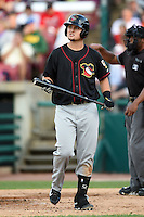 Quad Cities River Bandits third baseman J.D. Davis (36) at bat during a game against the Kane County Cougars on August 14, 2014 at Third Bank Ballpark in Geneva, Illinois.  Kane County defeated Quad Cities 4-1.  (Mike Janes/Four Seam Images)