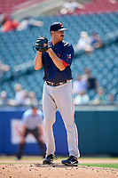 Pawtucket Red Sox relief pitcher Kyle Martin (40) gets ready to deliver a pitch during a game against the Buffalo Bisons on June 28, 2018 at Coca-Cola Field in Buffalo, New York.  Buffalo defeated Pawtucket 8-1.  (Mike Janes/Four Seam Images)