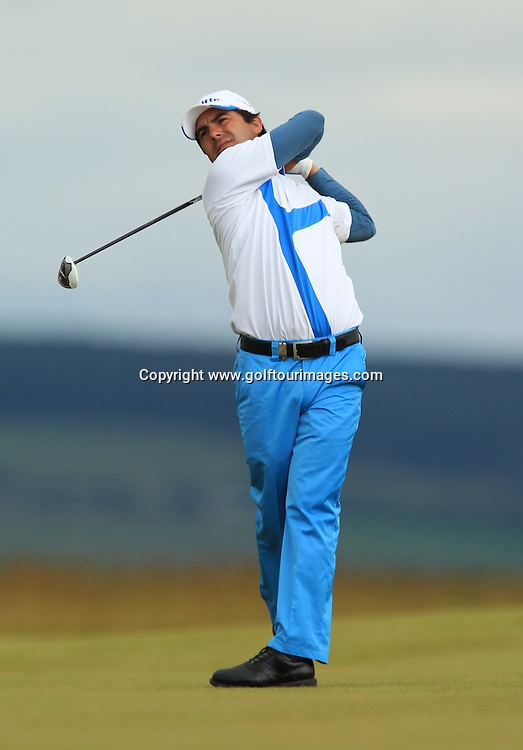 Felipe Aguilar (CHI) during the third round of the 2012 Aberdeen Asset Management Scottish Open being played over the links at Castle Stuart, Inverness, Scotland from 12th to 15th July 2012:  Stuart Adams www.golftourimages.com:14th July 2012