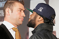 Montreal - CANADA - File Photo - Lucian Bute and jean Pascal adress the media  on January 15, 2014, about their upcoming boxing match