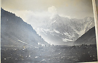 BNPS.co.uk (01202 558833)<br /> Pic: StroudAuctions/BNPS<br /> <br /> Fascinating art work by a British mountaineer who twice climbed Mount Everest have sold at auction a century later for over £30,000.<br /> <br /> Theodore Howard Somervell took part in pioneering expeditions to the Himalayas in 1922 and 1924.<br /> <br /> He got to within 1,000ft of the summit, the highest point reached at that time, despite not using an oxygen tank.<br /> <br /> The skilled artist produced dozens of watercolours and sketches of the scenes he witnessed, including glacial peaks and camp life.<br /> <br /> His works sparked a bidding war when they were sold by a direct descendant with Stroud Auctions, of Gloucs.  An oil on canvas painting of Everest base camp in 1922 sold for £7,500, almost 40 times its estimate.