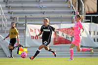 Whitney Engen (23) of the Western New York Flash. The Western New York Flash defeated Sky Blue FC 2-0 during a Women's Professional Soccer (WPS) match at Yurcak Field in Piscataway, NJ, on July 17, 2011.
