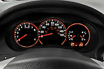 Instrument panel close up detail view of a 2008 Nissan Altma Coupe
