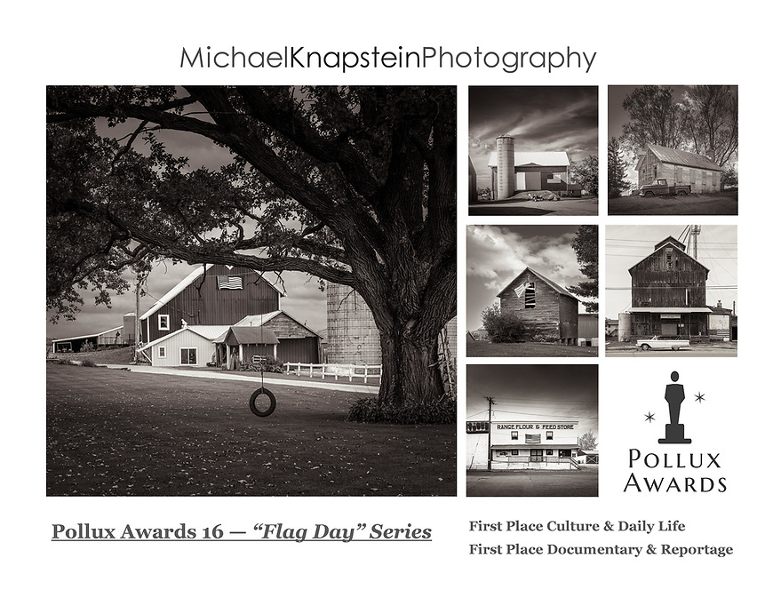 """A six-image series called """"Flag Day"""" by Michael Knapstein won First Place in two categories of the 16th Annual International Pollux Awards -- Culture & Daily Life as well as Documentary & Reportage."""