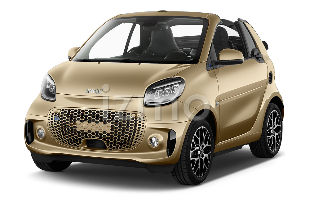 2020 Smart EQ-fortwo Comfort-Plus 2 Door Convertible Angular Front automotive stock photos of front three quarter view