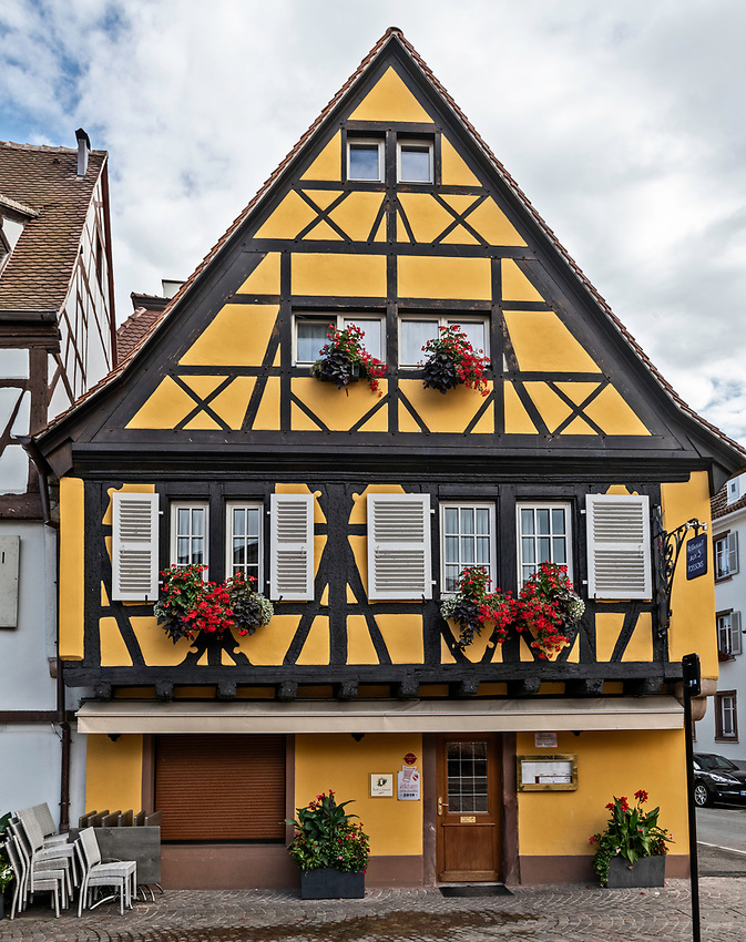 A pretty, half-timbered house in Colmar