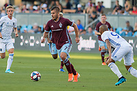 SAN JOSÉ CA - JULY 27: Diego Rubio #7 during a Major League Soccer (MLS) match between the San Jose Earthquakes and the Colorado Rapids on July 27, 2019 at Avaya Stadium in San José, California.