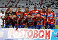 MANIZALES -COLOMBIA- 04 -12 -2013. Formacion del Deportivo Pasto. Accion de juego entre los equipos Once Caldas contra Deportivo Pasto , encuentro de los cuadrangulares finales de la Liga Postobon jugado en el estadio Palogrande  /  Deportivo Pasto team. Action game between teams Once Caldas vs Deportivo Pasto, meeting the end-runs Postobon League played in the stadium Palogrande.Photo: VizzorImage / Santiago Osorio / Stringer