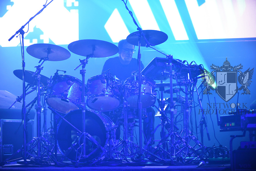 MIAMI BEACH, FLORIDA - JANUARY 18: Stephen Morris of New Order perform on stage at the Fillmore Miami Beach at the Jackie Gleason Theater on January 18, 2020 in Miami Beach, Florida.  ( Photo by Johnny Louis / jlnphotography.com )