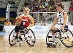 Toronto, Ontario, August 14, 2015. Canada vs USA womens wheelchair basketball gold medal game at the  2015 Parapan Am Games . Photo Scott Grant/Canadian Paralympic Committee