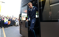 Jay Fulton of Swansea City arrives at Vicarage Road Stadium prior to kick off of the Premier League match between Watford and Swansea City at Vicarage Road Stadium, Watford, England, UK. Saturday 15 April 2017